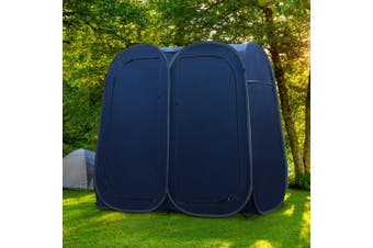 Pop Up Double Camping Shower Tent Toilet Change Room Ensuite