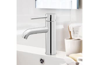 Cefito Bathroom Taps Round Basin Mixer Tap Brass Chrome Faucet Vanity Sink WELS