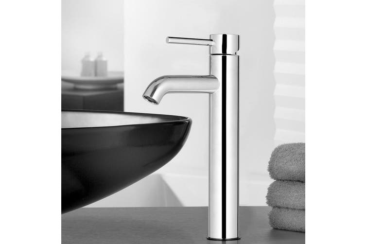 Cefito Bathroom Taps Mixer Tap Faucet Basin Vanity Sink Silver Tall Brass Wels Kogan Com