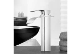 Cefito Bathroom Taps Faucet Mixer Tap Basin Vanity Brass Tall Silver WELS