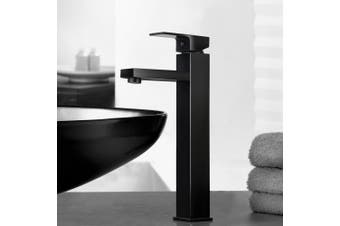 Cefito Tall Square Bathroom Taps Black Basin Mixer Faucet Brass Vanity Sink WELS