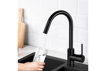 Cefito Kitchen Tap Swivel Basin Mixer Faucet Brass Vanity Sink Spout Black WELS
