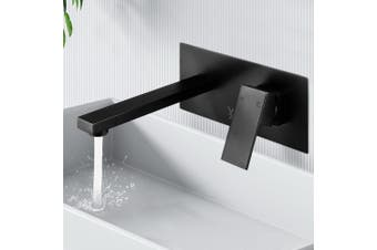 Cefito Bathroom Taps Basin Mixer Faucet Wall Square Brass Spout Vanity Sink WELS