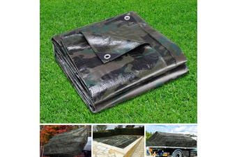 Instahut 2x3M Heavy Duty Camouflage Poly Tarp Cover Canvas Tarpaulin Covers Waterproof Outdoor Shade