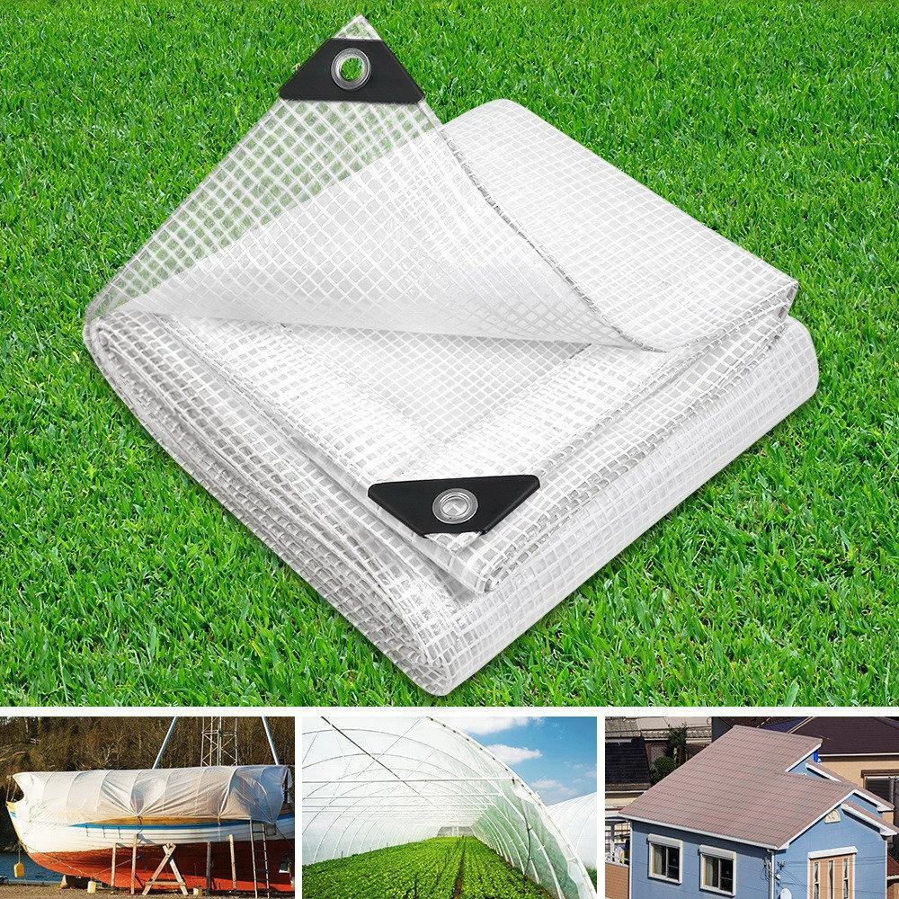 2x Polyethylene Waterproof 1.8x1.2m Tarpaulin Plastic Cover Canopy Sheet Tarp BL