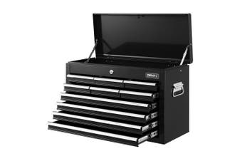 Giantz 10-Drawer Tool Box Chest Cabinet Garage Storage Toolbox Organizer Mechanic Case Kit BLACK