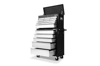 Giantz 14 Drawers Tool Box Chest Toolbox Cabinet Trolley Boxes Organiser Garage Storage GREY Mechanic Case Roller