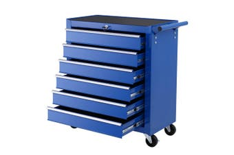 Giantz 6 Drawer Mechanic Tool Box Trolley Cart BLUE Garage Storage Cabinet Chest Boxes