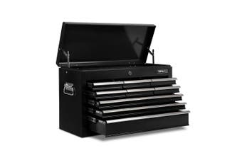 Giantz 9 Drawer Tool Box Chest Cabinet Garage Storage Toolbox Organizer Mechanic Case Kit BLACK
