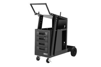 Giantz 4 Drawer Welding Trolley Rust Resistant Durable Spacious Ball Bearing Drawers Slides