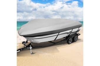 Seamanship Premium 12-15.5ft Boat Cover Trailerable Marine Grade Waterproof 600D