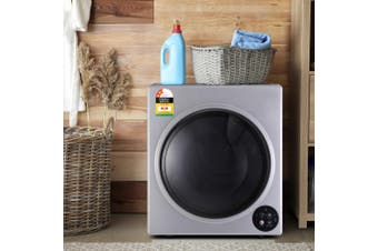 Devanti 6kg Tumble Dryer Vented Full Automatic Wall Mountable Silver