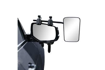 Set of 2 Piece Towing Mirror Long View Universal Vehicle Multi Trailer Caravan Car Truck Vehicle 4WD Pair Clip