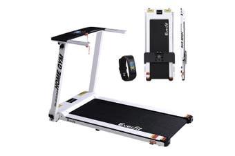 Everfit Electric Treadmill 420mm Home Gym Exercise Running Machine Fitness Equipment Bonus Fitness Tracker Anti Slip WHITE Energy Efficient