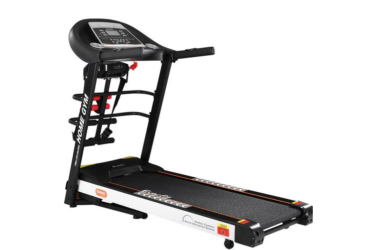 Everfit Electric Treadmill 450mm 18kmh 3.5HP Auto Incline Home Gym Run Exercise Machine Fitness Dumbbell Massager Sit Up Bar