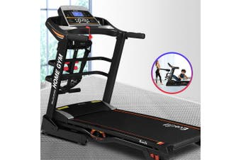 Everfit Electric Treadmill 480mm 18kmh 3.5HP Auto Incline Home Gym Run Exercise Machine Fitness Dumbbell Massager Sit Up Bar