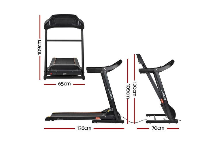 Everfit Electric Treadmill MIG41 40cm Incline Running Home Gym Machine Fitness 12 Speed Level Foldable Design
