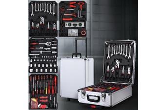 Giantz 786 Pieces Tool Kit Trolley Case Mechanics Box Toolbox Portable DIY SET Black