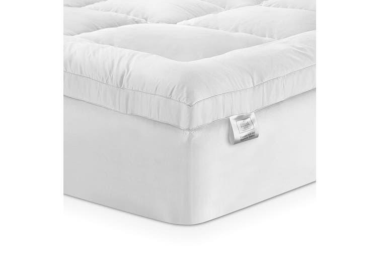 Giselle Bedding Pillow Top Mattress Toper 5cm 1000 GSM (Double) Bamboo Fibre Pillowtop Pad Cover