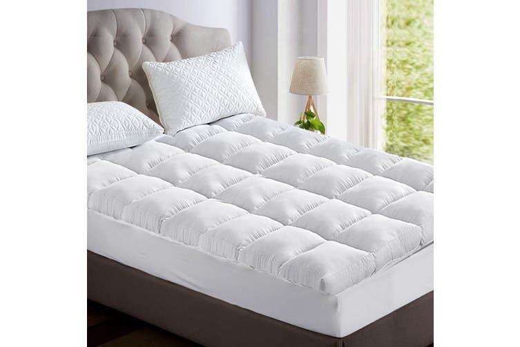 Giselle Bedding Pillow Top Mattress Toper 5cm 1000 GSM (King Single) Bamboo Fibre Pillowtop Pad Cover