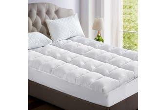 Giselle Mattress Topper Pillowtop Bamboo Fibre 1000GSM - Single