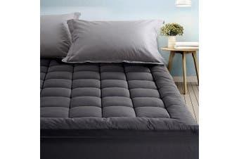 Giselle Bedding Pillow Top Mattress Toper 5cm 1000 GSM (Queen) Pillowtop Bamboo Charcoal Microfibre Filling