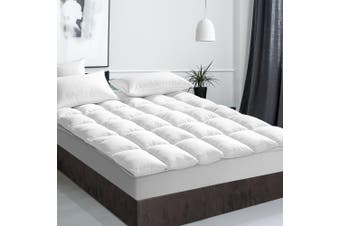 Giselle Bedding Pillow Top Mattress Toper 5cm Duck Feather Down 1000 GSM (King) Pillowtop Bed Underlay