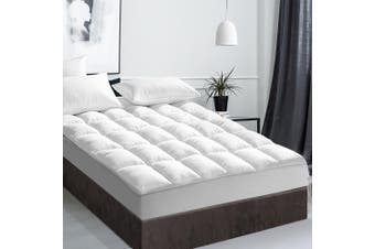 Giselle Bedding Pillow Top Mattress Toper 5cm Duck Feather Down 1000 GSM (Queen) Pillowtop Bed Underlay