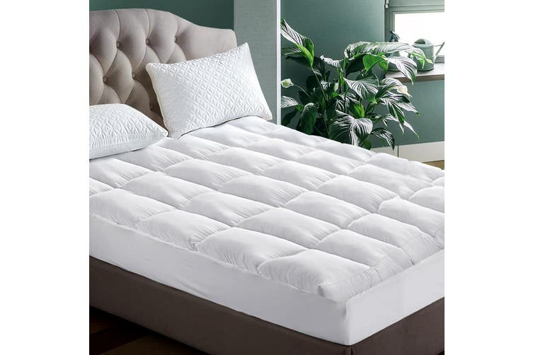 Giselle Bedding Pillow Top Mattress Toper 5cm 1000 GSM (King) Pillowtop Microfibre Filling Bed Underlay Pad Mat Protector Cover Breathable
