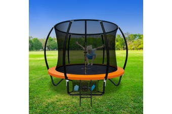 Everfit RAINBOW 8FT Trampoline Round Trampolines Safe Kids Mat with Net Pad