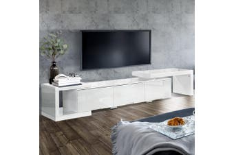 Artiss 290CM TV Cabinet Entertainment Unit Stand High Gloss Lowline White