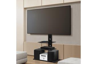 Artiss Floor TV Stand Bracket Mount Swivel Television Black Adjustable Entertainment Fits 32inch-70inch Screen