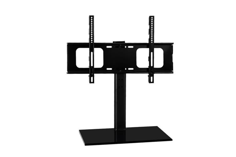 Artiss Table Top TV Swivel Mounted Stand Mount Tempered Glass Base 32-70inch Screen Size BLACK Swivel