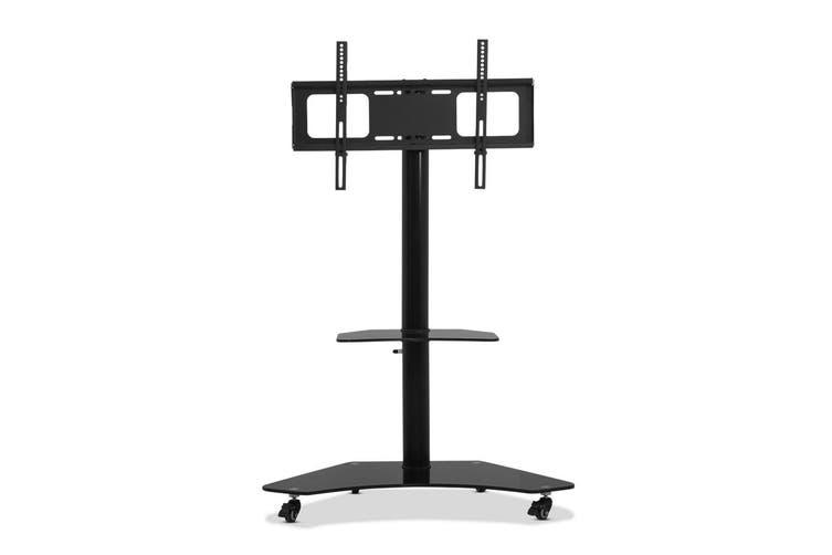Artiss TV Mount Floor Stand Swivel Bracket Trolley Rotating Castor Wheels Top Shelf Base Storage 32inch to70inch TV Size