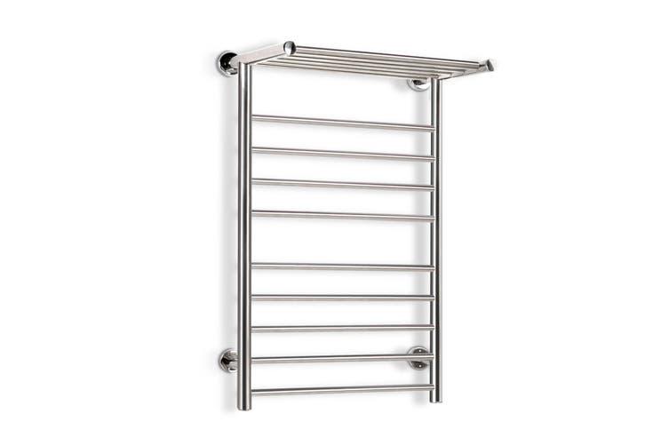 Devanti Heated Towel Rail Bathroom Stainless Steel Electric Rails Warmer Clothes 14 Rack