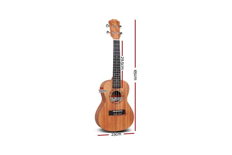 Alpha 26 Inch Concert Ukulele Tenor Mahogany Ukeleles Uke Hawaii Guitar w/ Carry Bag Tuner