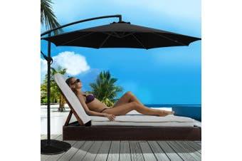 Instahut 3M Outdoor Umbrella Cantilever Garden Umbrellas Deck Shade Patio BK