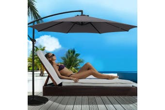 Instahut 3M Outdoor Umbrella Cantilever Garden Umbrellas Shade Patio CA