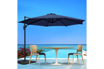 Instahut 3M Roma Outdoor Umbrella Garden Umbrellas Patio 360 Degree Deck NA