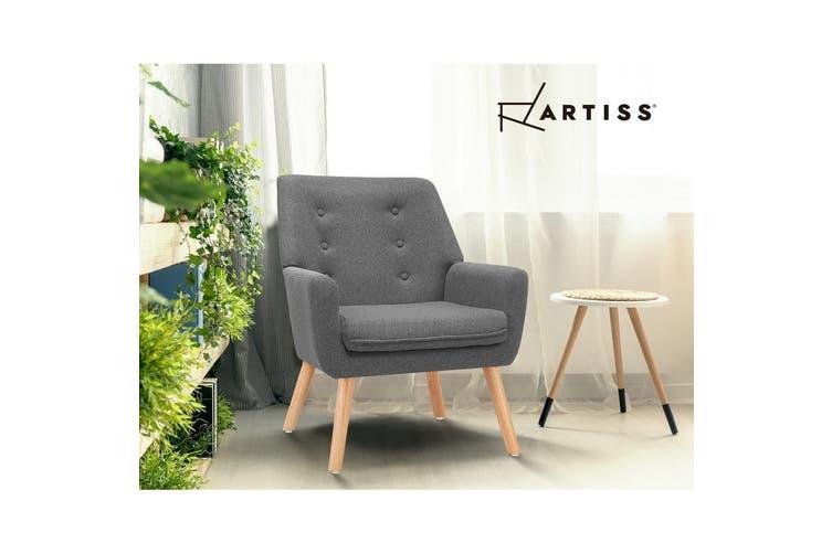 Artiss Armchair Lounge Chair Fabric Sofa Accent Chairs Tub Armchairs Grey