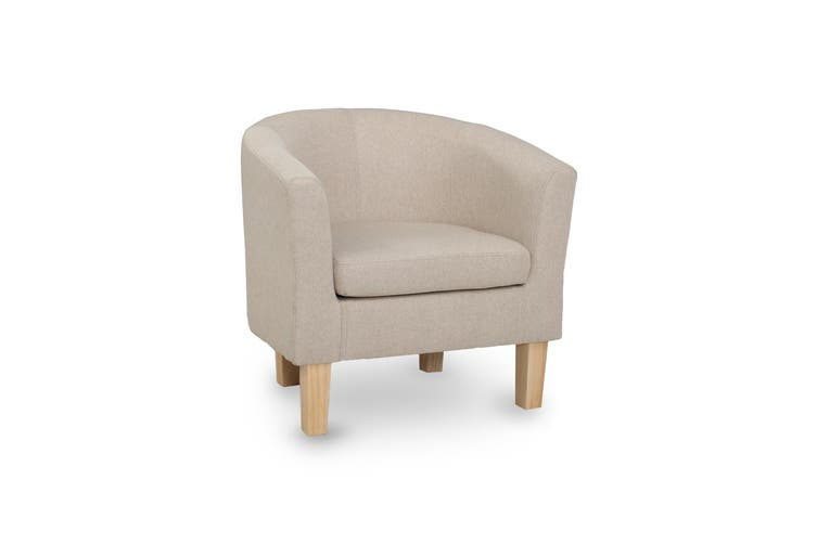 Artiss Armchair Lounge Chair Tub Accent Armchairs Fabric Sofa Chairs Wooden