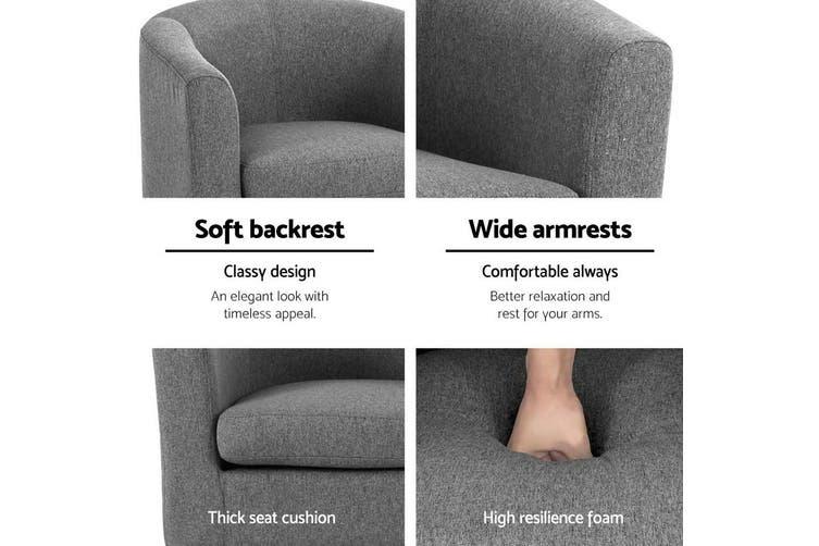 Armchair Lounge Chair Tub Accent Armchairs Fabric Sofa Chairs Grey