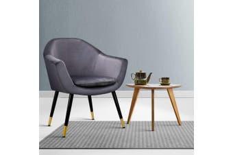 Armchair Accent Chair Retro Armchairs Single Sofa Velvet Seat Grey