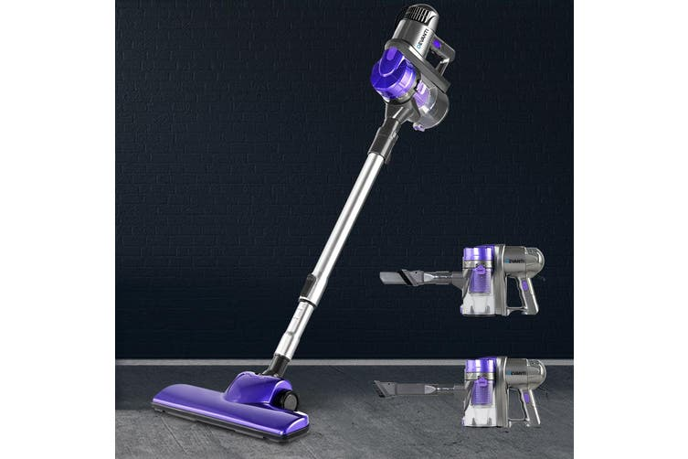 Devanti Handheld Vacuum Cleaner Upright Bagless Handstick Corded Portable for Car Purple