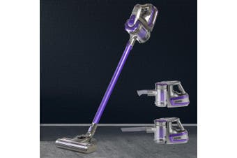 Devanti Cordless 150W Handheld Vacuum Cleaner Upright Bagless Handstick 2-Speed Portable Purple