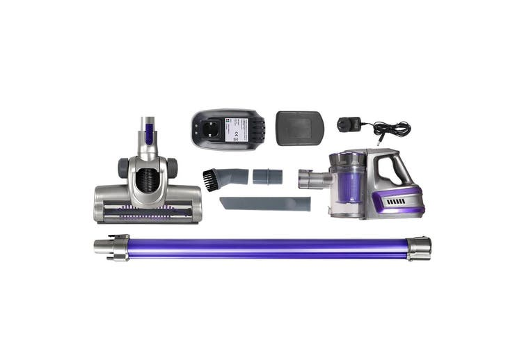Devanti Cordless 150W Handheld Vacuum Cleaner Upright Bagless Handstick 2-Speed Portable Purple