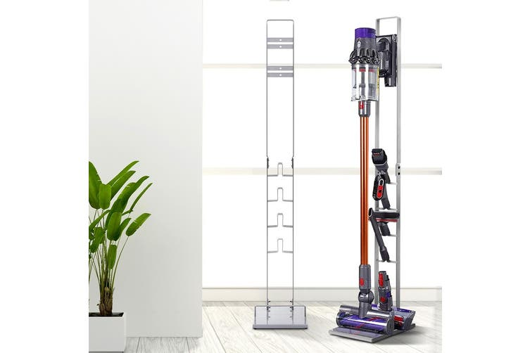 Free standing Floor Dyson Vacuum Stand Rack Holder For Cordless Cleaning Accessories Handheld SILVER