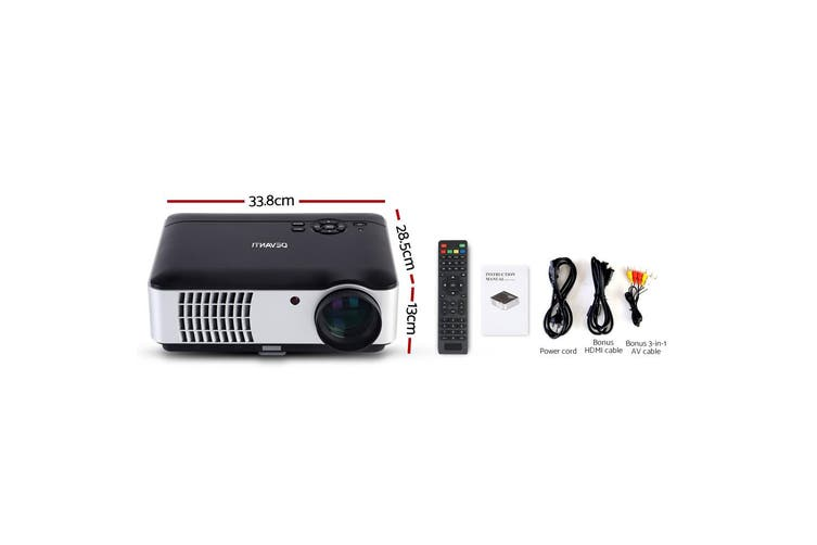 Devanti Mini Video Projector WiFi Portable 4000 Lumen Home Theatre Office Presentation Multimedia