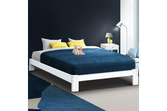 Artiss Bed Frame Double Size Wooden Bed Base JADE Timber Foundation Mattress