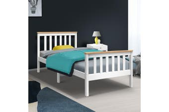 Artiss SINGLE Size PONY  Bed Frame Mattress Base Pine Timber Platform Bedroom Trundle Drawers Compatible Kids Bedroom